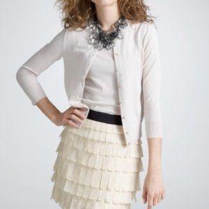 NWT - J.Crew Factory Tiered Brique Silk Skirt